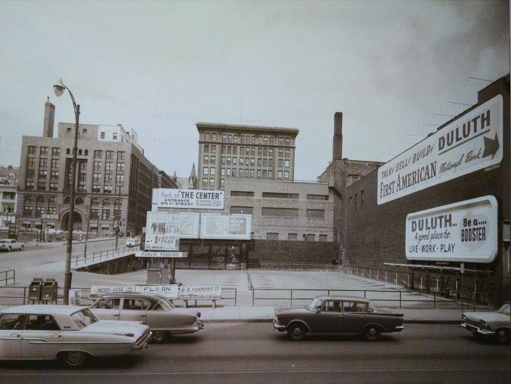 A view of downtown Duluth taken some time in the mid-60s