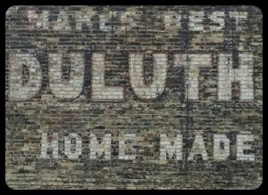 This ghost sign advertises an long gone locally made flour.